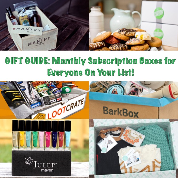 Gift Guide: Monthly Subscription Boxes